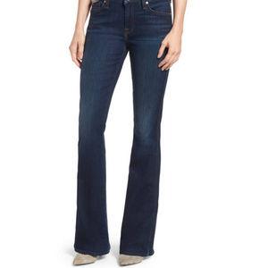 NWT 32 7FAM Flare Leg A Pocket Blue Denim Jeans